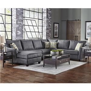 6 Seat Sectional Sofa with Left Facing Chaise