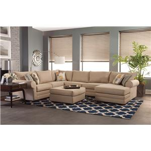 Casual Sectional Sofa with Chaise