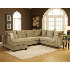 U-Shaped Contemporary Sectional with Left Chaise