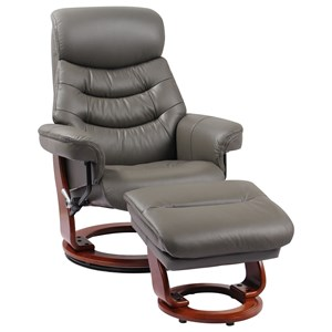 Reclining Chair and Ottoman and Adjustable Hidden Headrest