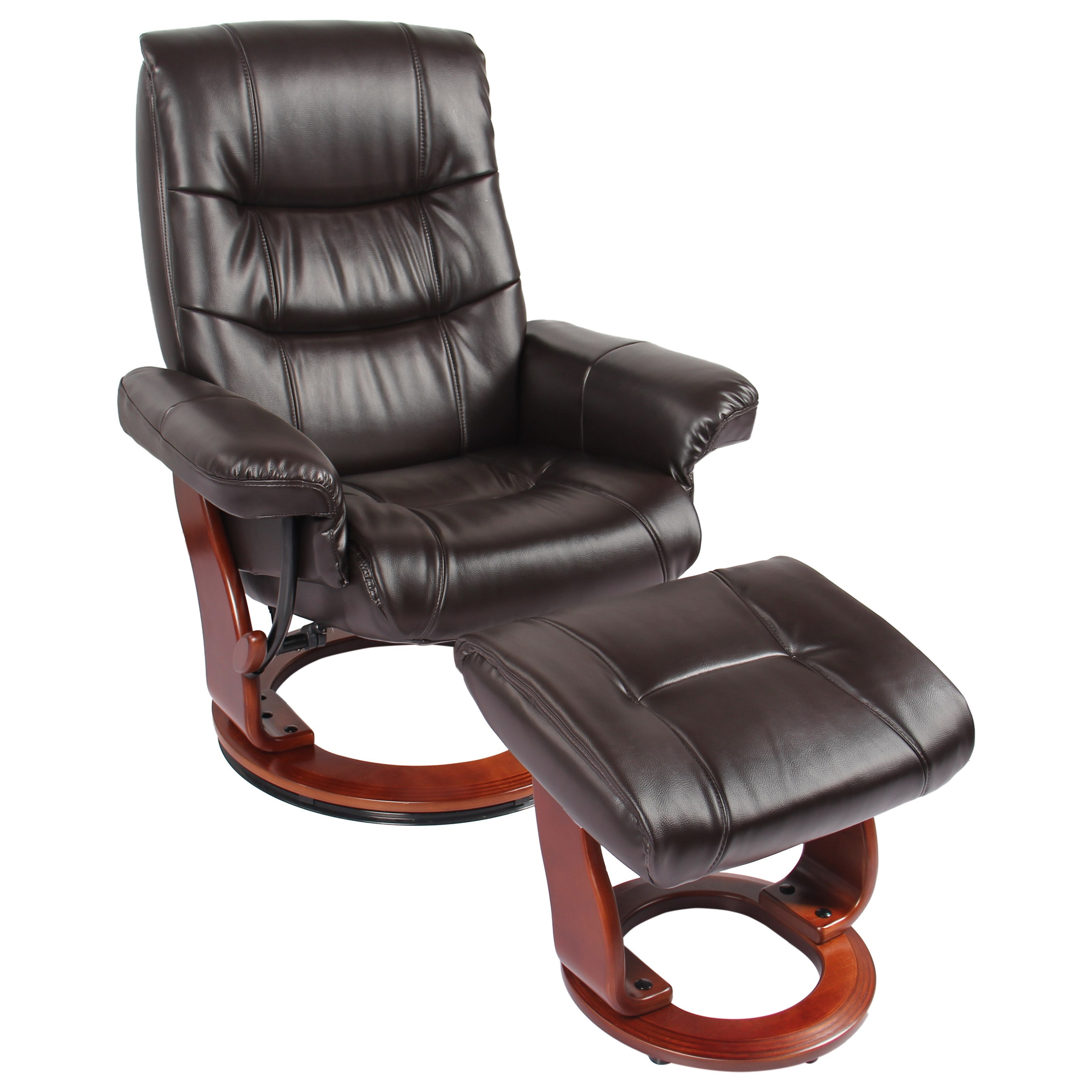 Rosa II Reclining Chair and Ottoman at Sadler's Home Furnishings