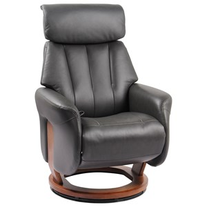Recliner with Flip-Up Ottoman