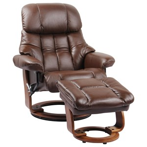 Casual Lounger with Built-in Storage Ottoman