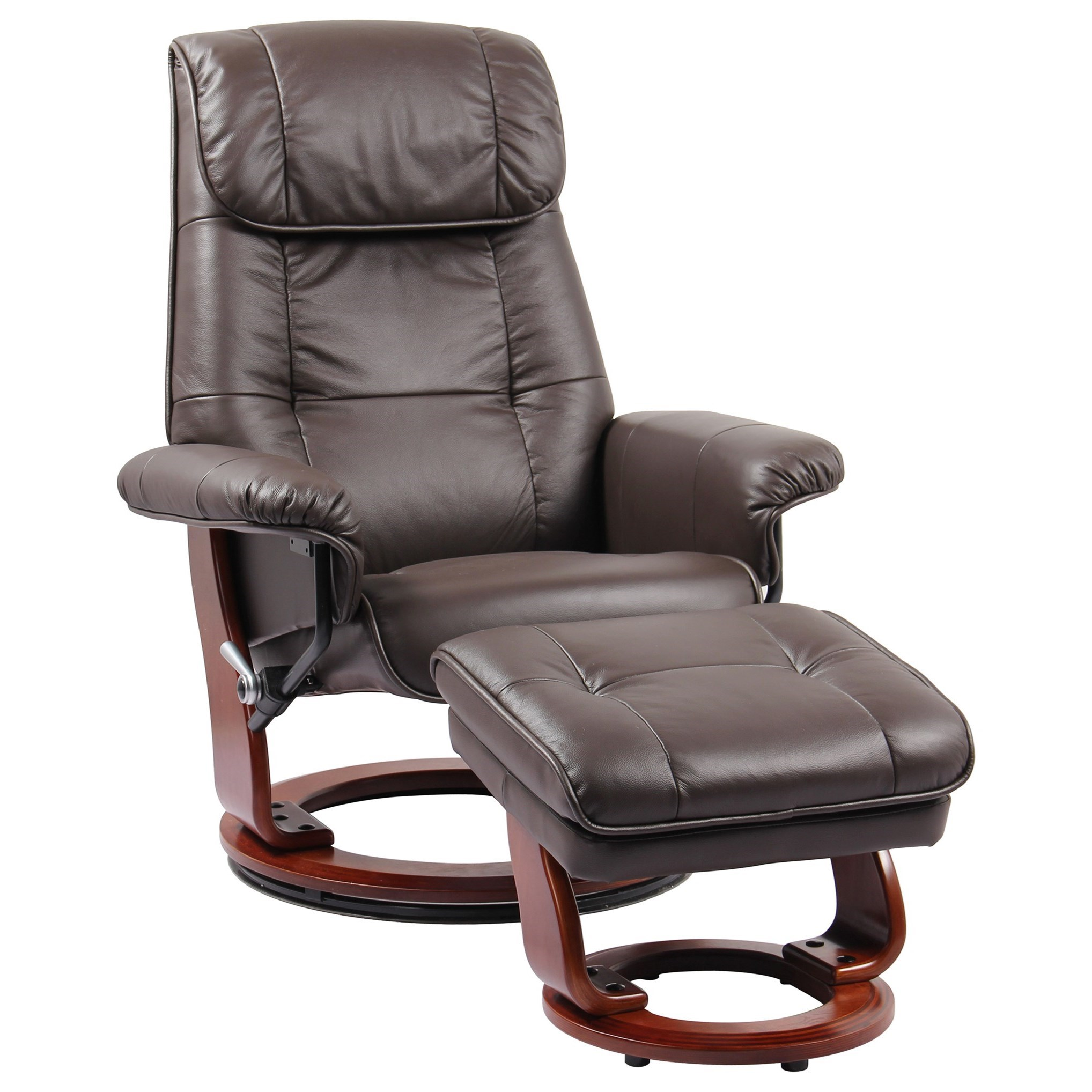 Ventura II Reclining Chair and Ottoman by Benchmaster at Steger's Furniture