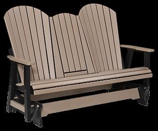 Comfo Back Series Three Seat Glider w/ Console by Berlin Gardens at Westrich Furniture & Appliances