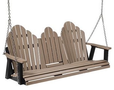 Cozi-Back Three Seat Swing w/ Console by Berlin Gardens at Westrich Furniture & Appliances
