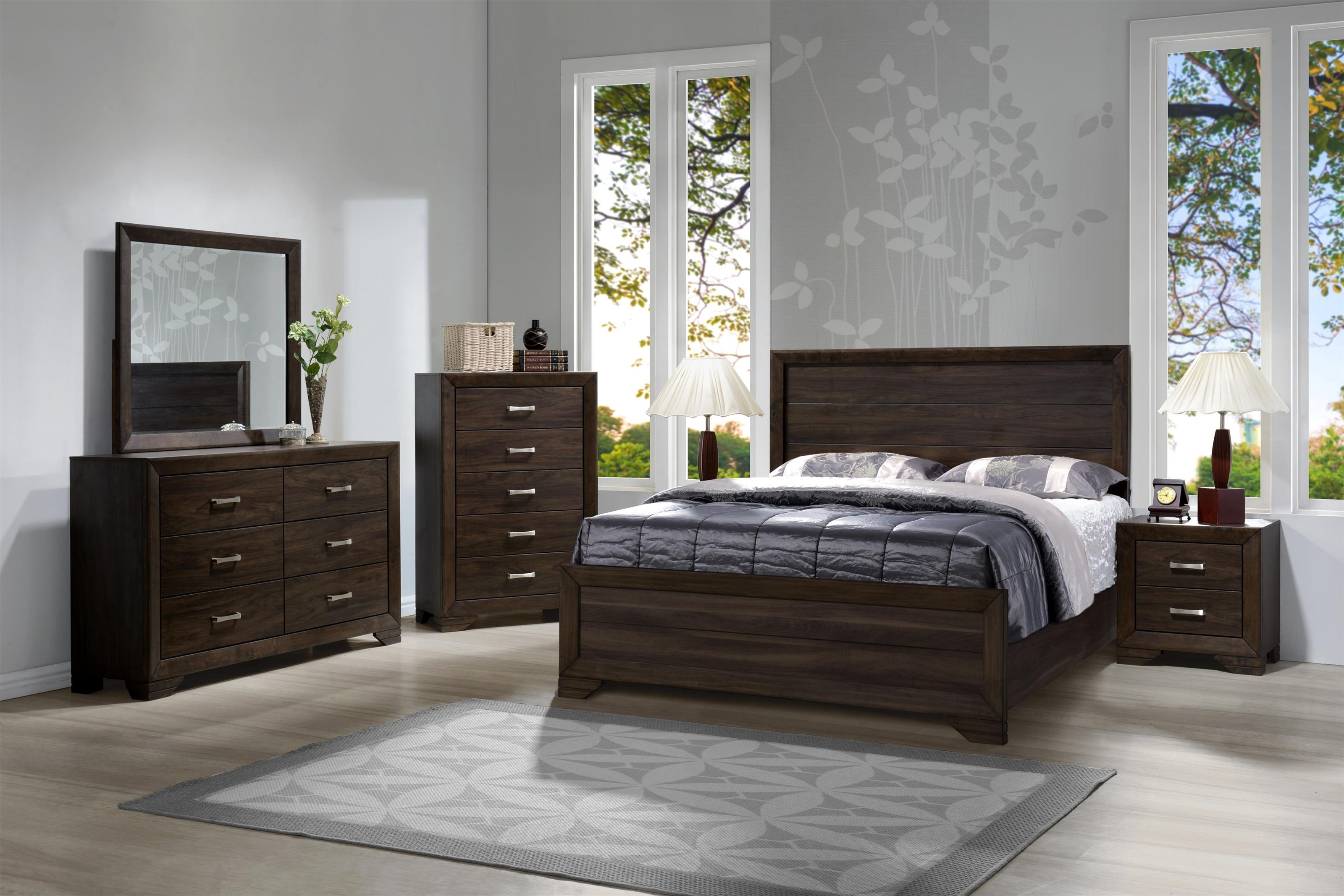 Asheville Mango Queen Bedroom Group by Bernards at Westrich Furniture & Appliances