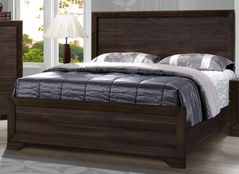 Asheville Mango Queen Bed by Bernards at Westrich Furniture & Appliances