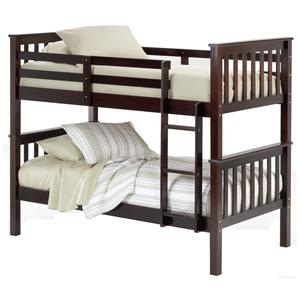 Merlot Finish Twin Bunk Bed