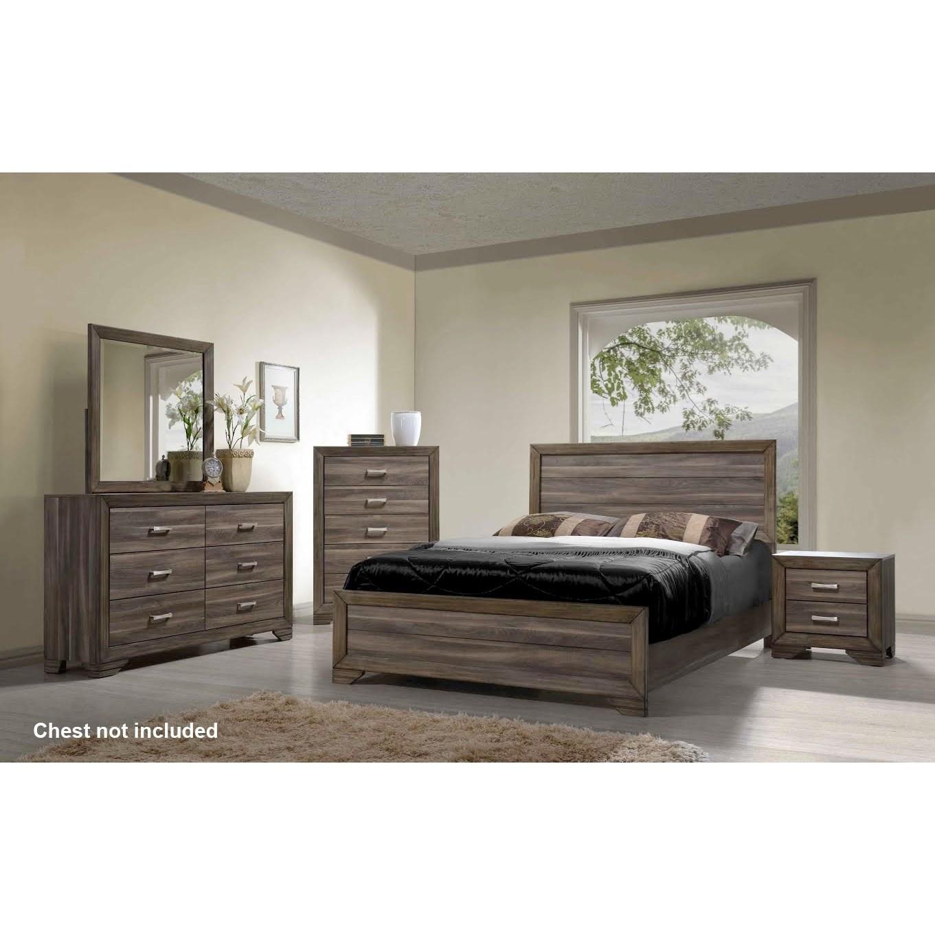 Asheville King Bedroom Group by Bernards at Westrich Furniture & Appliances