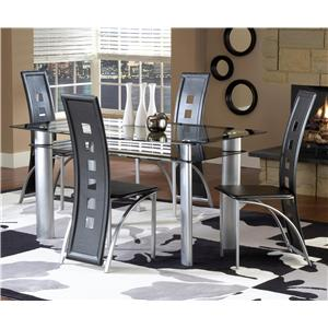Bernards Astro Contemporary 5-Piece Dinette Set