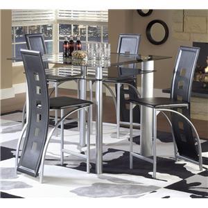 Bernards Astro Contemporary 5-Piece Counter Height Set
