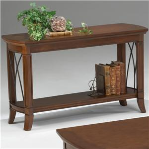 Bernards Cathedral Cherry Metal Sofa Table