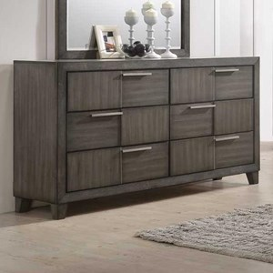Contemporary 6 Drawer Dresser