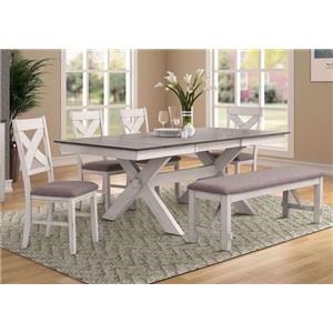 Table with Bench and 4 Side Chairs