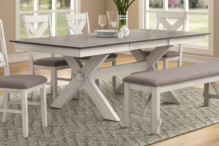 Dining Table with End Leaves