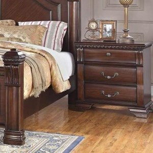 Traditional 3 Drawer Nightstand