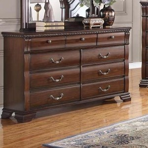 Traditional 9 Drawer Dresser