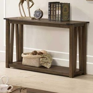 Sofa Table with Plank Look Top