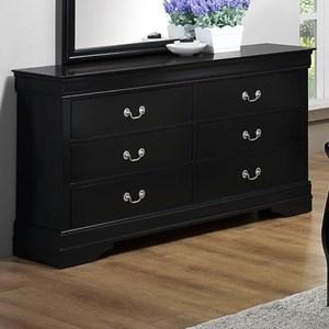 Louis Philippe Dresser in Black Finish