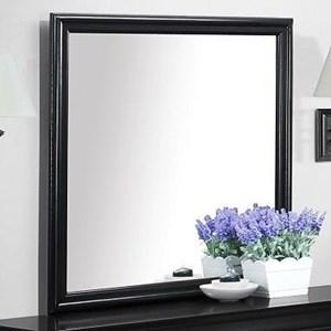 Mirror in Black Paint Finish
