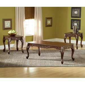 Traditional Cherry Finish 3-Pack of Occasional Tables