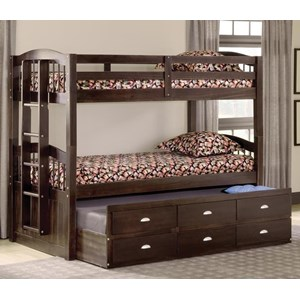 Twin over Twin Captain's Bunk Bed