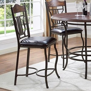 Metal/Wood Counter Stool
