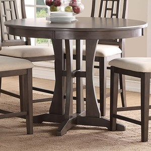48-Inch Round Counter Dining Table with Pedestal Base