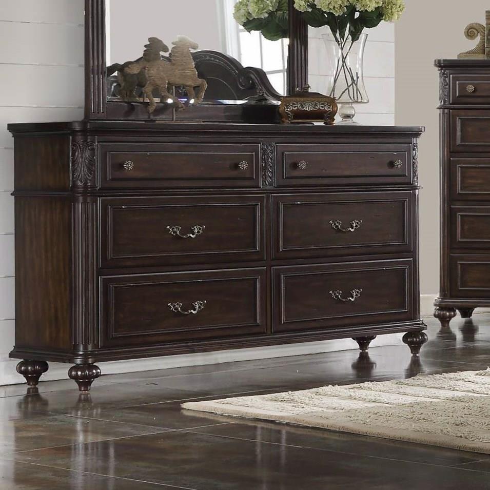 Nottingham Dresser by Bernards at Westrich Furniture & Appliances