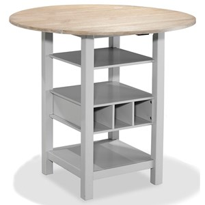 Drop Leaf Counter Table with Wine Rack