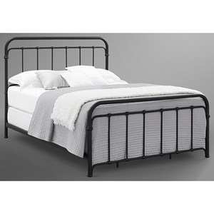 Queen Metal Bed in Rustic Black Finish