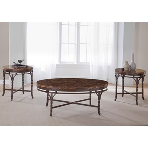 Faux Marble 3-Pack Table Set
