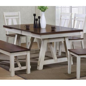 Refectory Rectangular Dining Table w/ Self-Storing Leaves