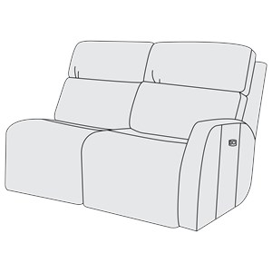 Right Arm Power Motion Loveseat