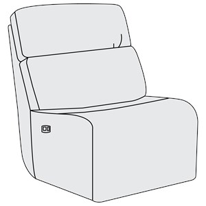 Power Motion Armless Chair