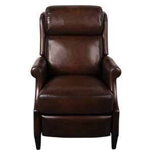 Leather Match Power High Leg Recliner with Power Headrest