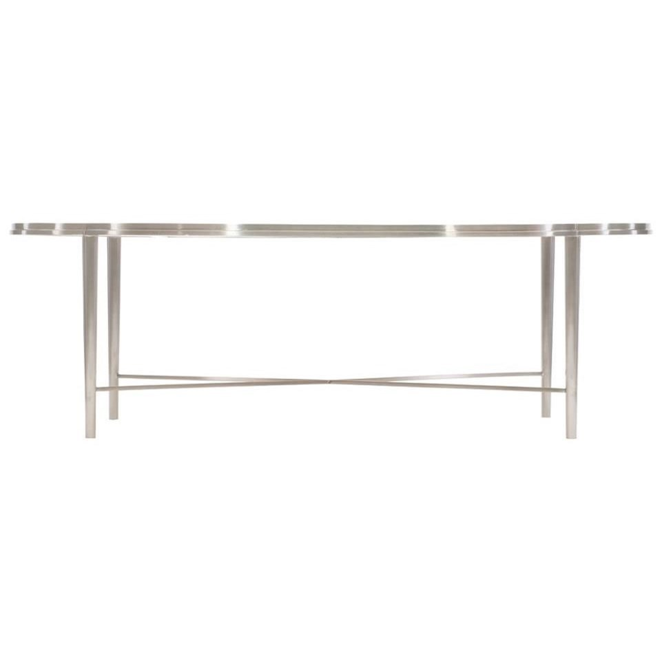 Allure Metal Oval Cocktail Table at Williams & Kay
