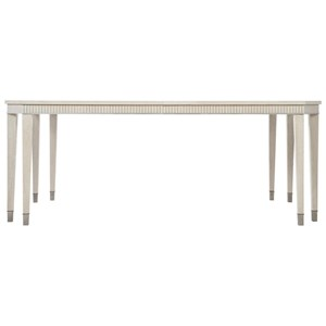 "Transitional Rectangular Dining Table with 24"" Leaf"