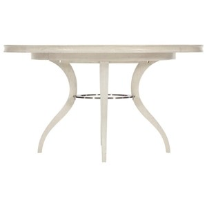 "Transitional Round Dining Table with 18"" Leaf"