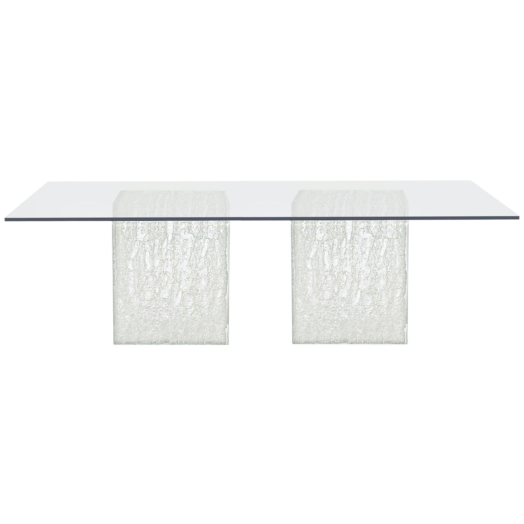 Arctic Rectangular Glass Dining Table at Williams & Kay