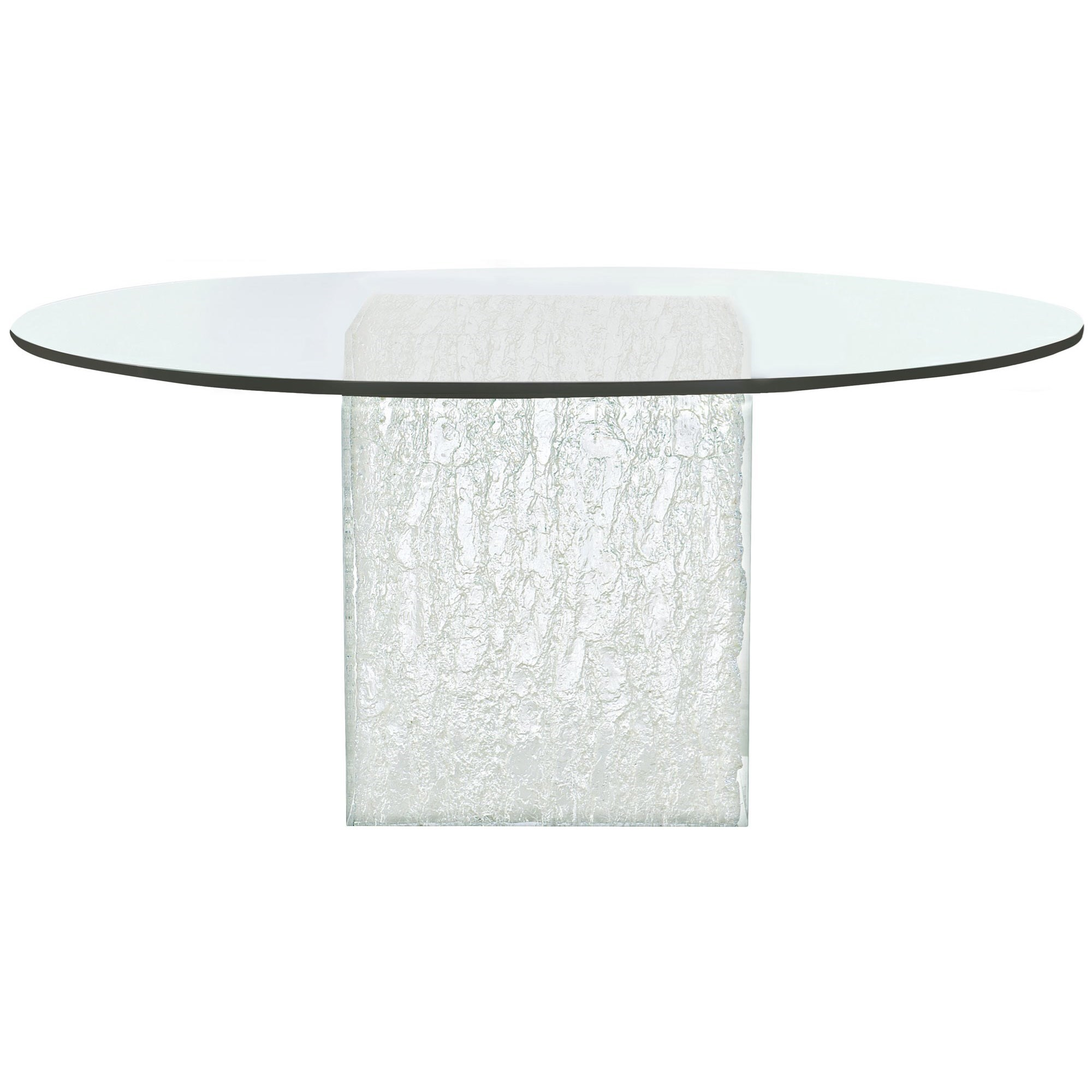 Arctic Round Glass Dining Table by Bernhardt at Baer's Furniture