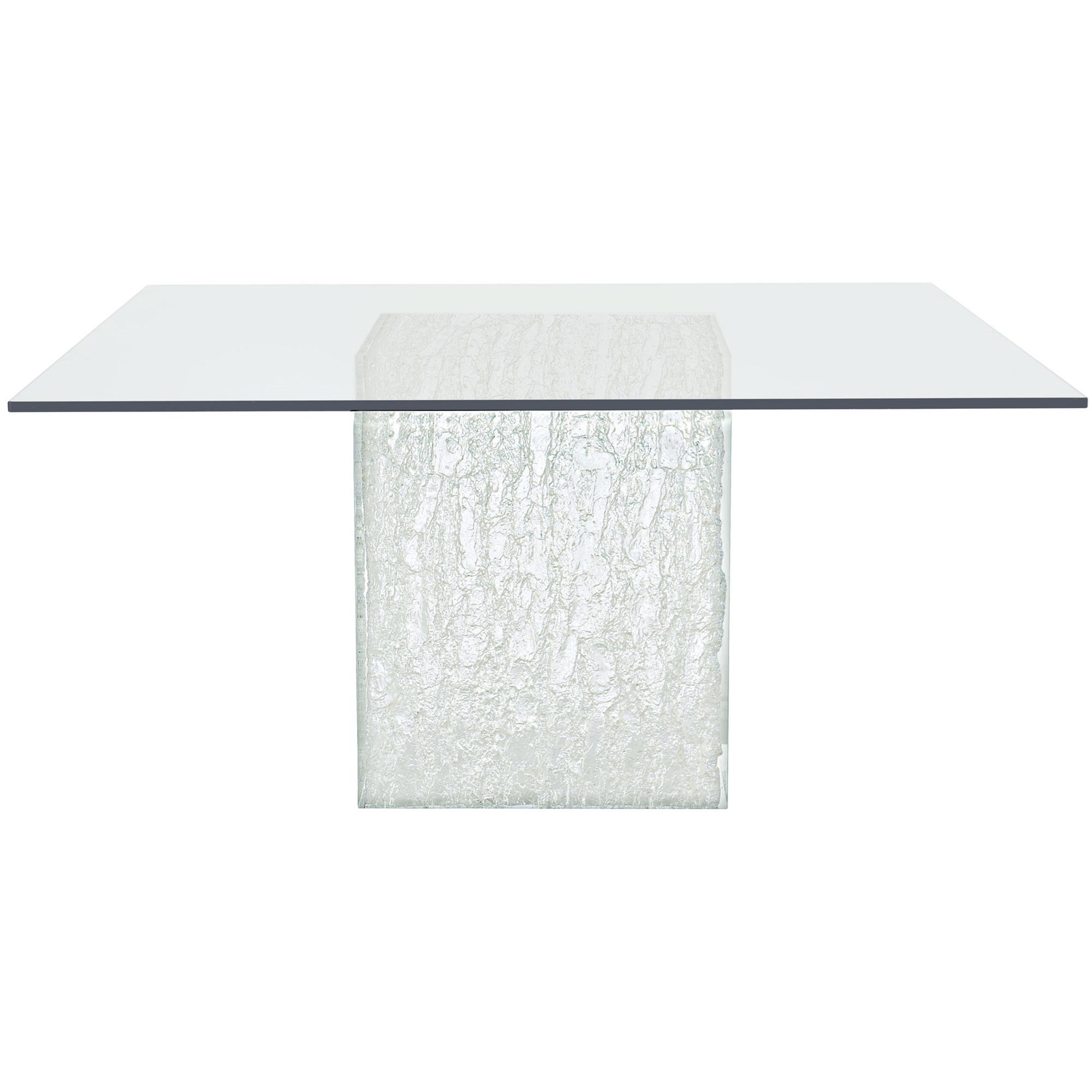 Arctic Square Glass Dining Table by Bernhardt at Fisher Home Furnishings
