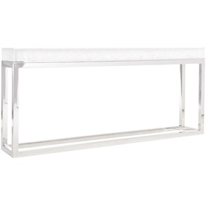 Solid Acrylic Top Console Table with Stainless Steel Base