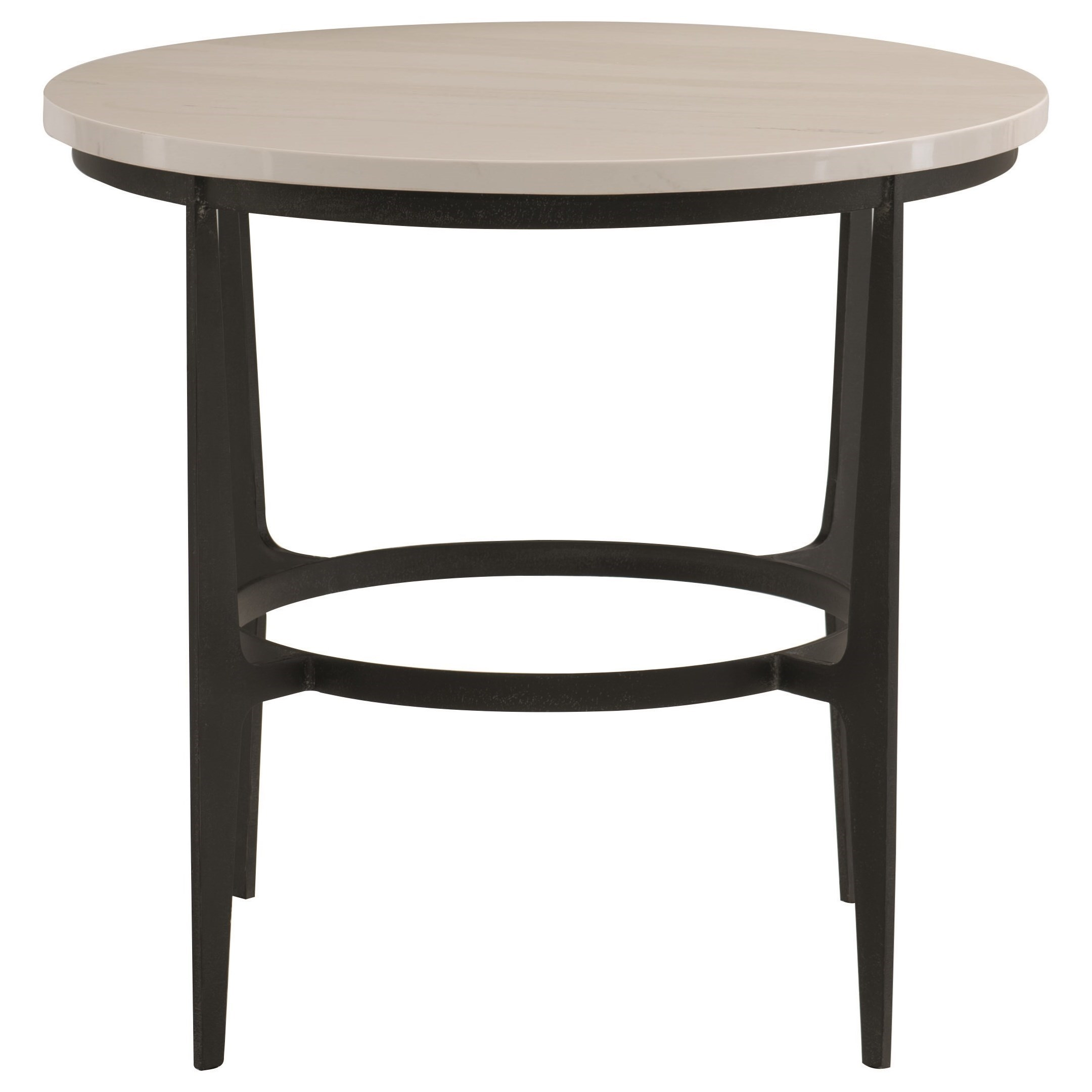 Avondale Round Metal End Table by Bernhardt at Morris Home