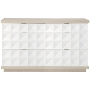 Contemporary Dresser with 6 Drawers