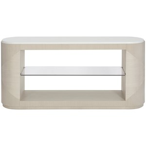 Contemporary Console Table with 1 Glass Shelf