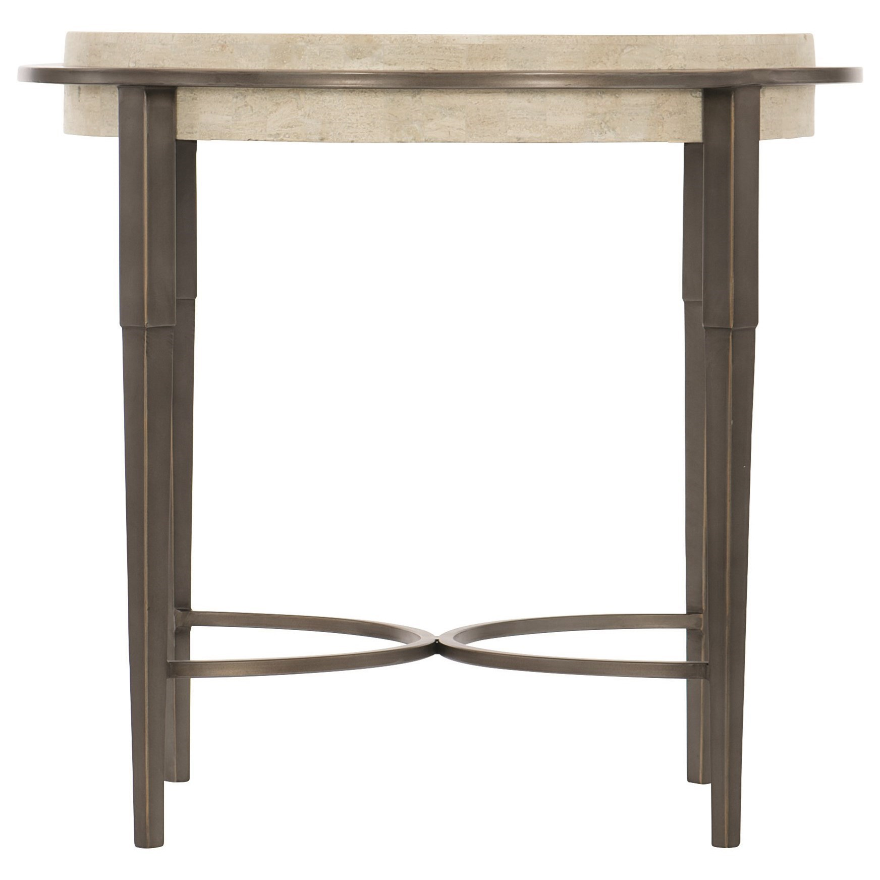 Barclay Metal Round Chairside Table by Bernhardt at Darvin Furniture