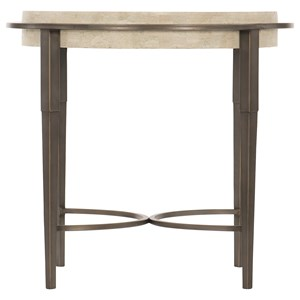 Metal Round Chairside Table