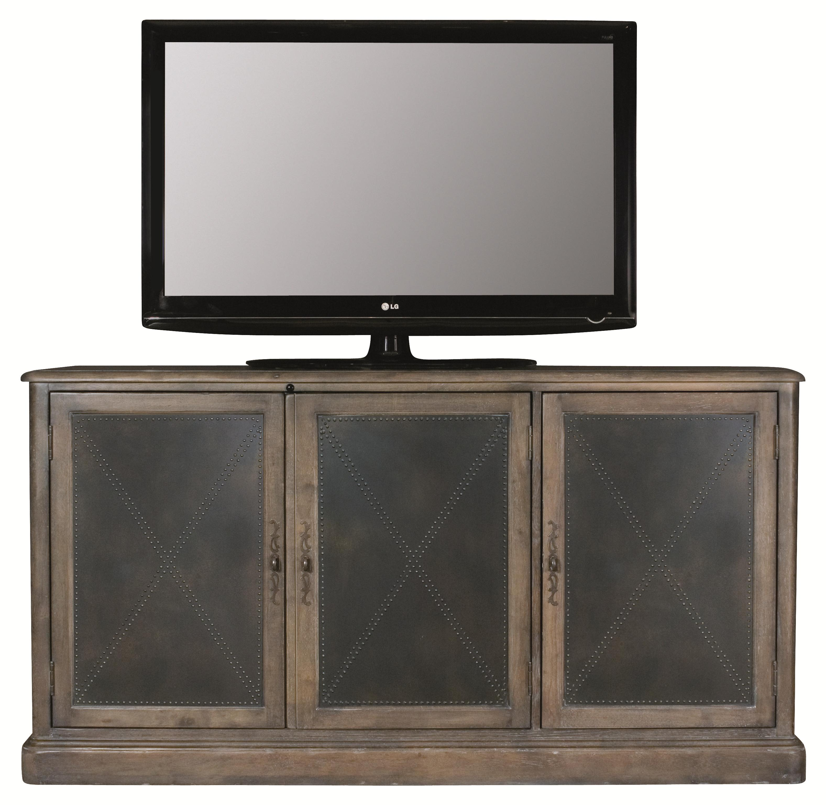Belgian Oak Entertainment Console by Bernhardt at Sprintz Furniture